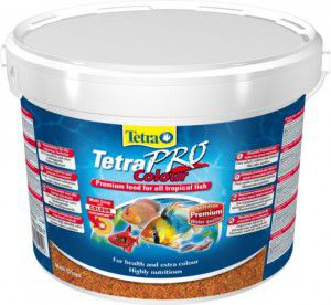 TetraPro Color 10 литров (ведро) Тетра про колор Чипсы для окраки рыб