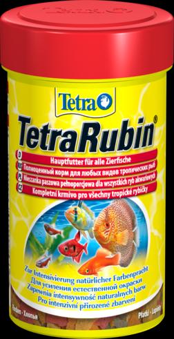 TetraRubin 1 литр Тетра Рубин Корм для окраски рыб, хлопья