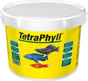 TetraPhyll 10 литров (ведро) Тетра Филл Корм для растительноядных рыб, хлопья