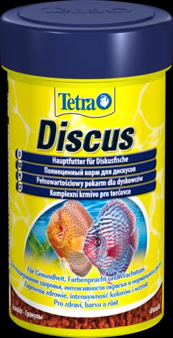 Tetra Discus 100 мл Тетра Дискус Основной корм для дискусов, гранулы