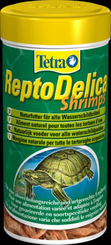 Tetra ReptoDelica Креветки 1 литр Лакомство для водных черепах с креветками