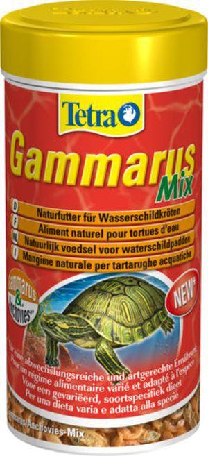 Tetra Gammarus Mix 250 мл Корм в виде смеси гаммаруса и анчоусов для водных черепах.