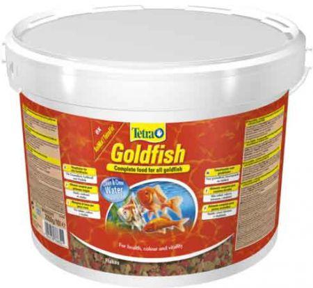 Tetra Goldfish 10 л ведро Тетра Голдфиш Корм для золотых рыбок, хлопья
