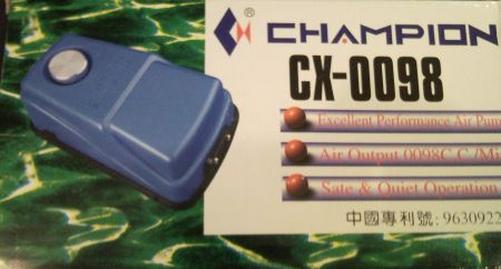 Atman Champion CX - 0098 Компрессор для аквариума двухканальный