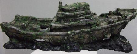 Корабль затонувший декорации для аквариума Deksi код 556