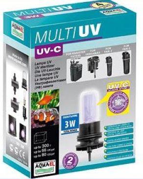 Aquael MULTIUV UV-C 3W Акваэль ультрафиолетовый стерилизатор для аквариума 3Вт