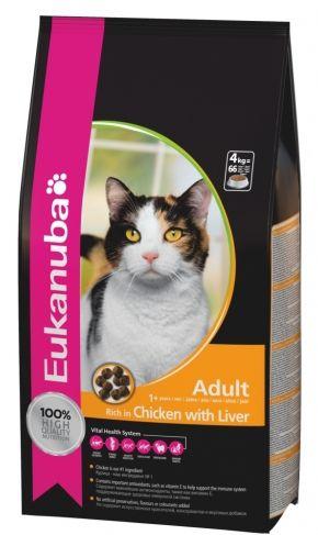 Eukanuba Adult 10кг. Корм для взрослых кошек на основе курицы и печени 10кг.