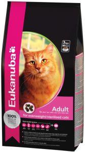 Eukanuba Adult Overweight/Sterilised 1,5кг. Корм для стерилизованных кошек и кошек, сколнных к избыточному весу 1,5кг.