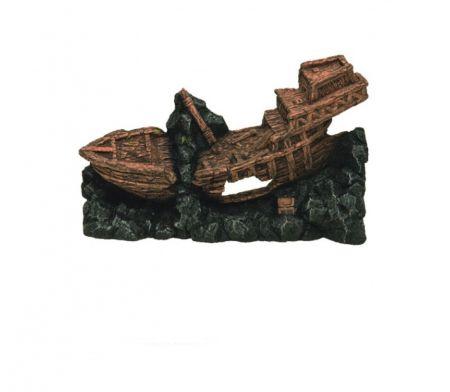 Корабль односторонний декорации для аквариума Deksi код 521