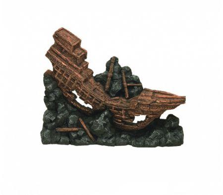 Корабль односторонний декорации для аквариума Deksi код 531