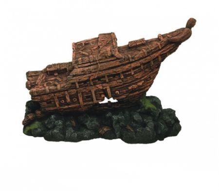 Корабль односторонний декорации для аквариума Deksi код 552