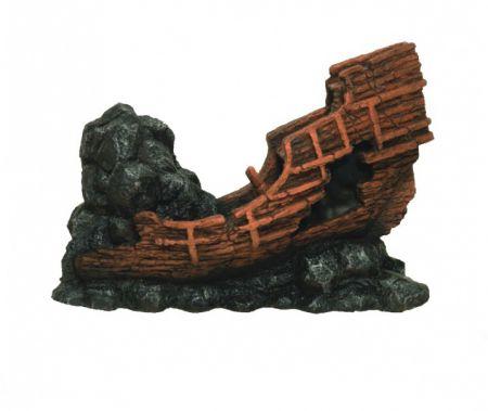 Корабль затонувший декорации для аквариума Deksi код 503