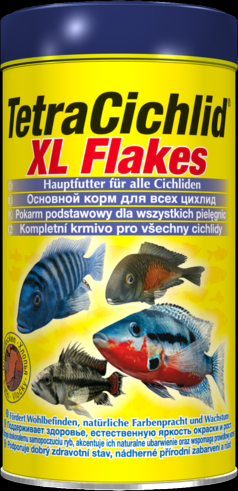Tetra Cichlid XL Flakes 500 мл Тетра цихлид крупные хлопья