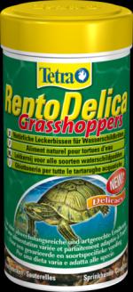 Tetra ReptoDelica Кузнечики 250 мл Лакомство для водных черепах