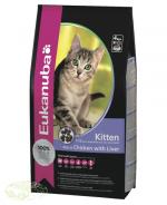 Eukanuba kitten 4кг. Корм для котят, беременных и лактирующих кошек на основе курицы и печени. 4кг.