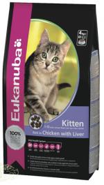 Eukanuba kitten 10кг. Корм для котят, беременных и лактирующих кошек на основе курицы и печени. 10кг.