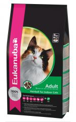 Eukanuba Adult Hairball - Indoor 2kg. Корм для взрослых кошек, склонных к образованию волосяных комочков в желудке 2кг.